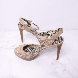 Jessica Simpson Blazie Python & Gold Platform Heel